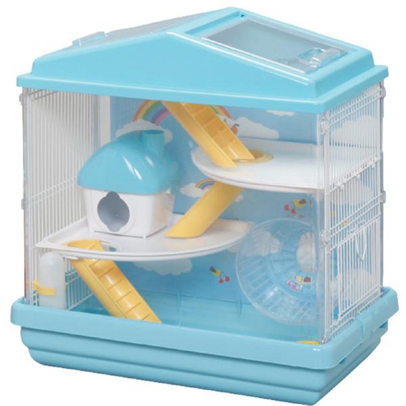 Abc Pet Plaza Iris 3 Level Playhouse Habitat Cage Blue