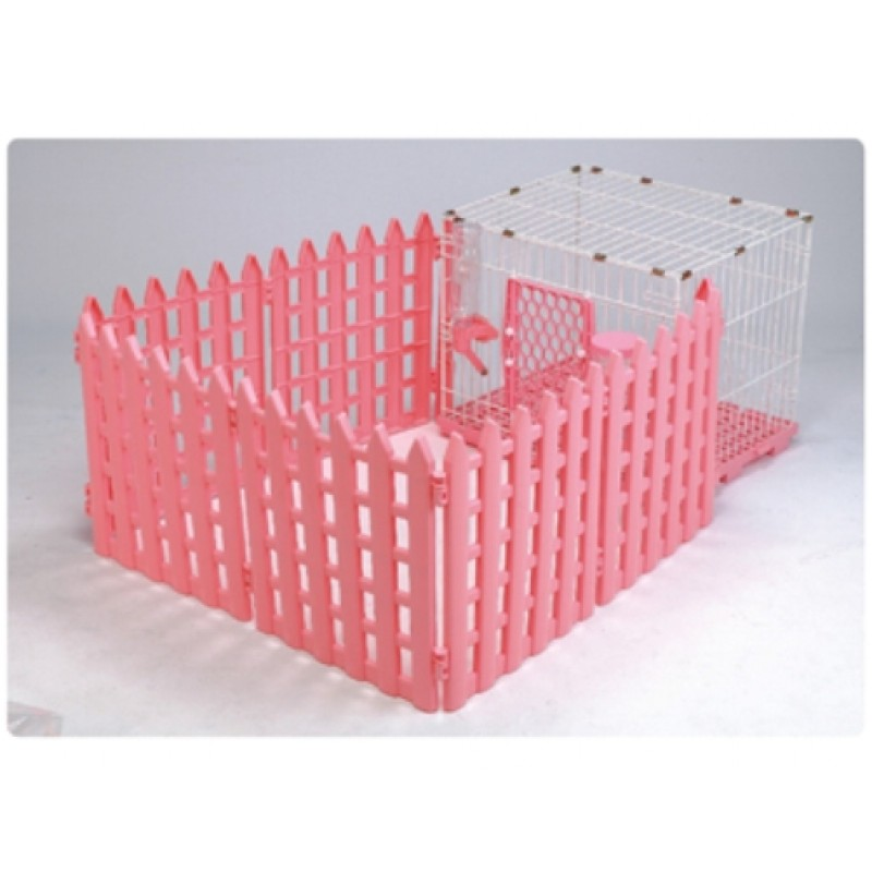 Abc Pet Plaza 2001628 Wire Amp Plastic Pet Pen With Fence Pink
