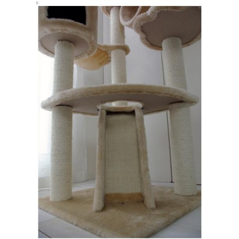 Abc Pet Plaza Cat Tower With Scratching Posts And Cubby