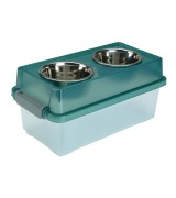IRIS Medium Elevated Pet Feeder with Storage, FS-M, Green