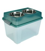 IRIS Large Elevated Pet Feeder with Storage, FS-L, Green