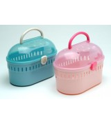 Small Animal Pet Carrier, Blue & Pink