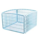 IRIS 4-Panel Plastic Pet Pen, Blue