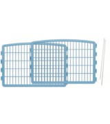 2 Plastic Play Pen Panels with 2 Pins for IRIS CI-604 CI-600, Blue