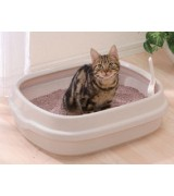IRIS Open Top Cat Litter Pan, Ivory