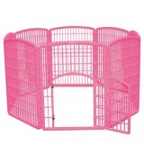 IRIS 8-Panel Plastic Pet Pen, Pink