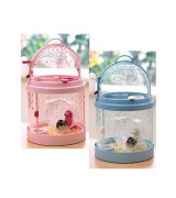 Small Animal Pet Hamster Gerbil Cage/Carrier, DW-302, Pink