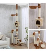 Catland Floor to Ceiling Cat Tree w/Cubby, Hammock and Scratching Posts