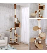 Catland Floor to Ceiling Cat Tree w/Cubby, Ledge and Scratching Posts