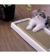 Dustless Cardboard Cat Scratcher with Tray