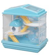 IRIS 3-Level Playhouse Hamster Cage, Blue