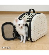 Foldable Pet Dog Carrier, Beige, OPC-320