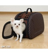 Folding Pet Travel Carrier, Brown, OPC-320,