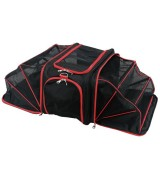 IRIS Soft Sided Travel Carrier, Black/Red