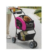 IRIS Adjustable 4-Way Pet Stroller, Pink