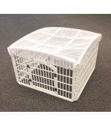 IRIS 4-Panel Plastic Pet Pen w/Mesh Roof, White