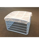 IRIS 4-Panel Plastic Pet Pen w/Mesh Roof, Blue