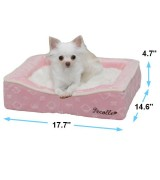 Pecalle Pet Bed w/Removable Cushion, Pink