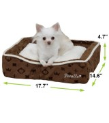 Pecalle Pet Bed w/Removable Cushion, Brown