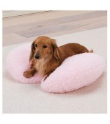 Heart Shaped Fluffy Pet Pillow,  Pink