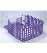 AcePet Wire and Plastic Pet Cage with Fence - Purple
