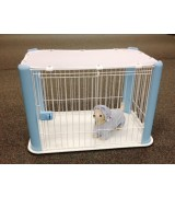 IRIS Wire Pet Pen w/Mesh Roof, Blue