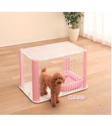 IRIS Wire Pet Pen w/Mesh Roof, Pink