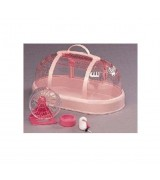 IRIS Small Animal Carrier w/Accessories, Pink