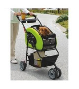 IRIS Adjustable 4-Way Pet Stroller, Green