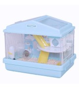 IRIS 2-Level Playhouse Hamster Cage, Blue