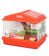 IRIS 2-Level Playhouse Hamster Cage, Red
