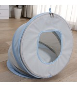 Folding Cat House w/Removable Cushion, Blue