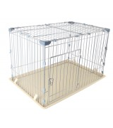 IRIS Deluxe Medium Wire Containment Cage for Dogs, Almond