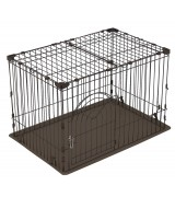 IRIS Deluxe Medium Wire Containment Cage Pen for Dogs, Brown