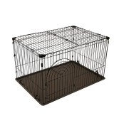 IRIS Deluxe Large Wire Containment Cage Pen for Dogs, Brown